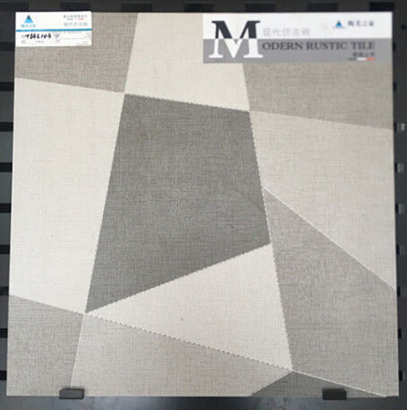 600x600mm Inkjet Ceramic Tile In Bathroom , Custom Made Grey Ceramic Floor Tile